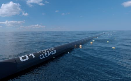 A cső (Fotó: The Ocean Cleanup)