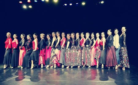 Together with the pupils - FlamenCorazón Arte Dance Theatre
